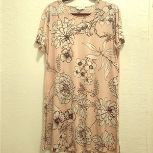 Calvin Klein Floral Print Tunic Dress